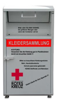 [Translate to Deutsch, leichte Sprache:] Kleidercontainer